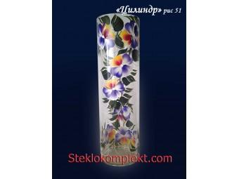Ваза напольная Цилиндр бесцветный (Обои-Цветы)